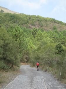 Ciclista sulla Matrone