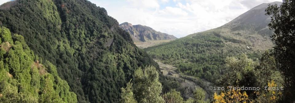 I Cognoli di Levante, la Valle dell'Inferno, il Vesuvio e il Somma dai Cognoli di Pollena