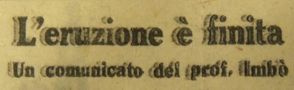 Titolo di un articolo apparso a pag. 4 de Il Risorgimento del 31/03/1944